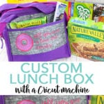 Learn how to make a custom lunch box with your Cricut! You will also want to stock up and save at Publix with these General Mills items for back to school! #backtoschool #lunchbox #cricut #cricutmade