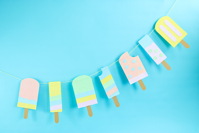 popsicle banner made with summer svg file