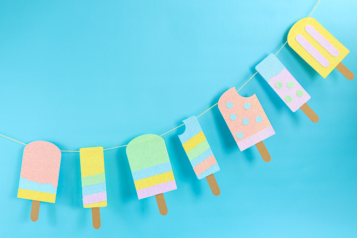 how to make a summer banner with a cricut svg file