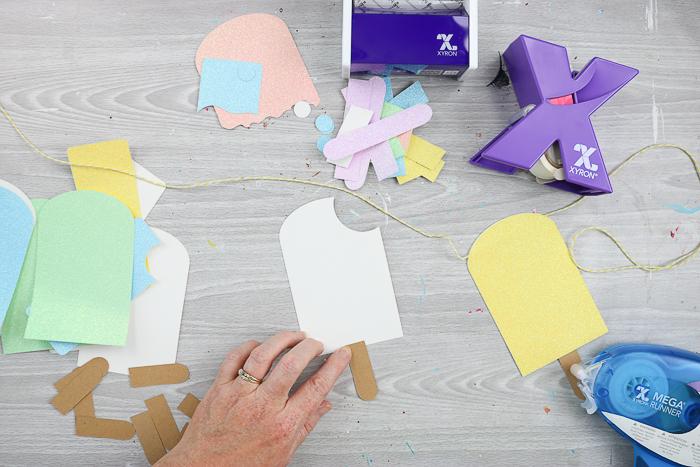 assembling a summer banner