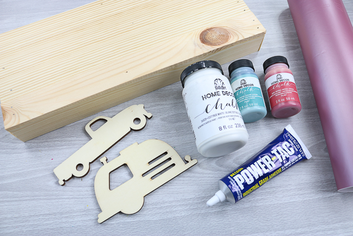 Supplies to make a truck and camper sign