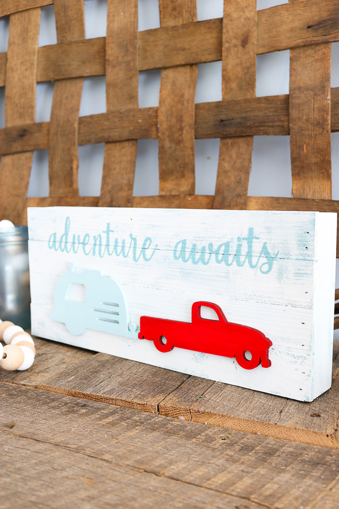 fun truck with camper sign for your home