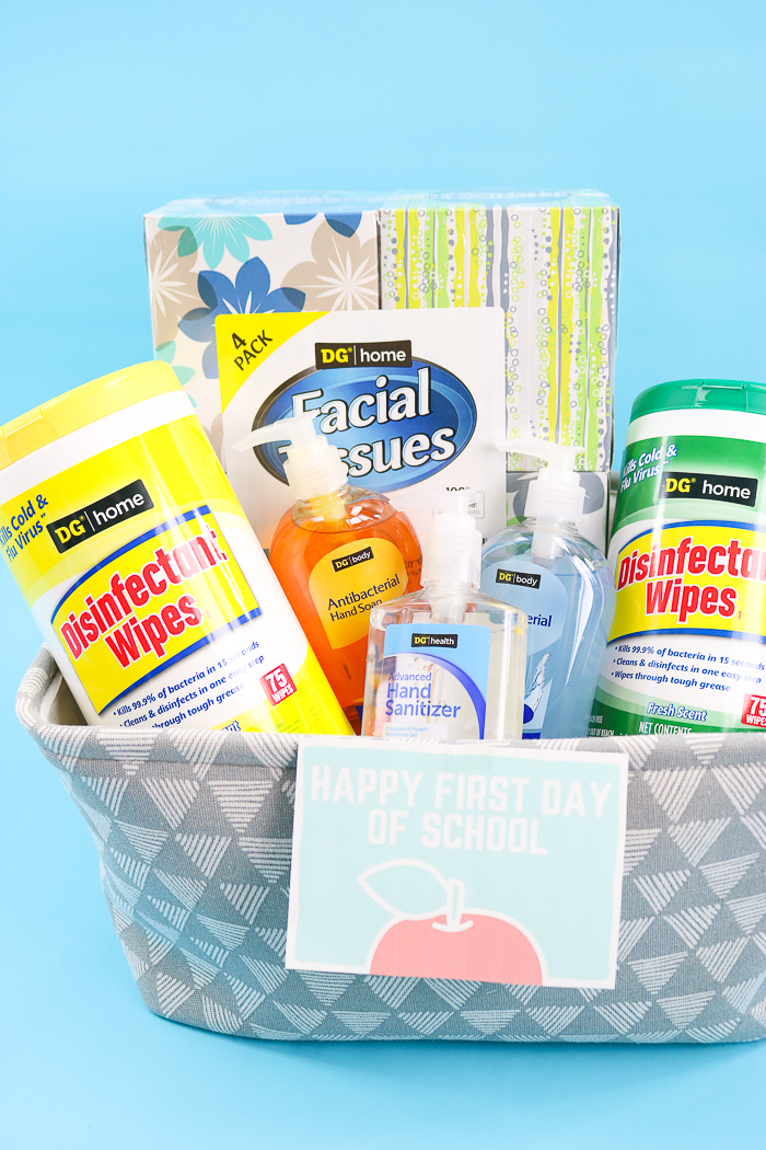teacher gift basket for first day of school