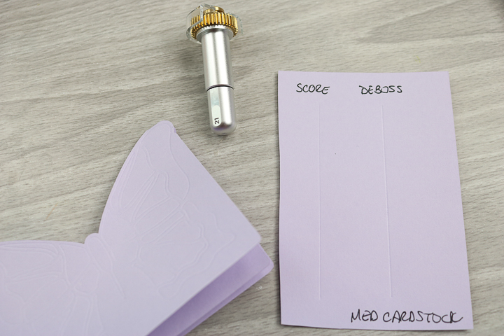 card making with deboss tip on cricut maker