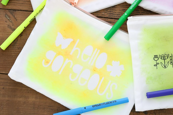 diy zipper pouch with infusible ink