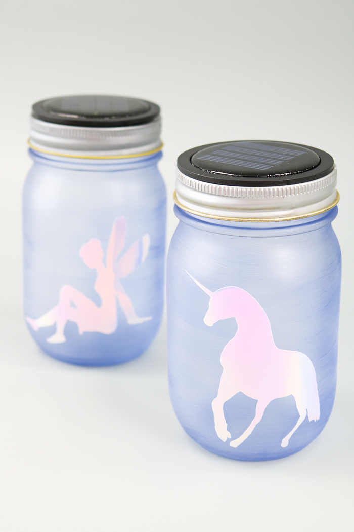 fairy night light from a mason jar