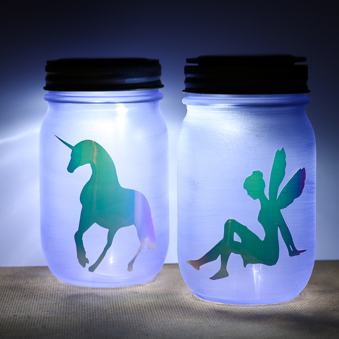 unicorn mason jar