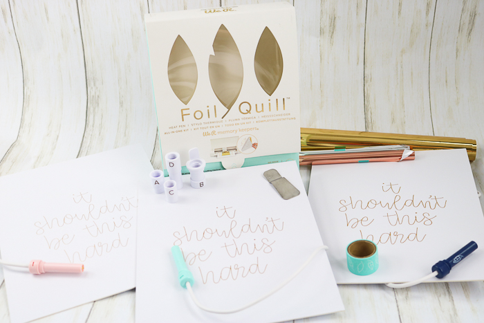 using the foil quill in a cricut