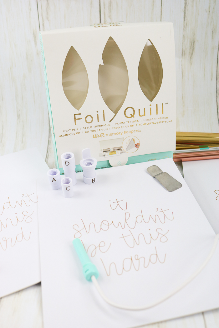 How to Use the Foil Quill on a Cricut Machine - The Country Chic Cottage