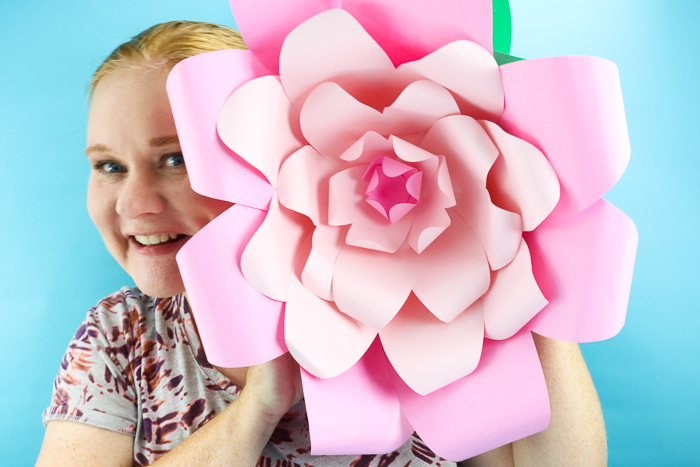These giant paper flowers are the perfect way to add some color to a party!