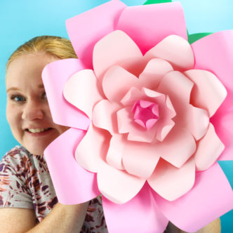 how to make flowers out of paper with a Cricut