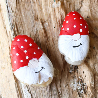 Gnome Painted Garden Rocks