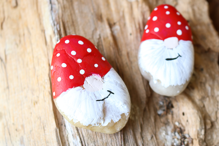 gnome painted rocks