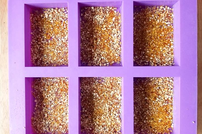 using dried orange peel to make soap