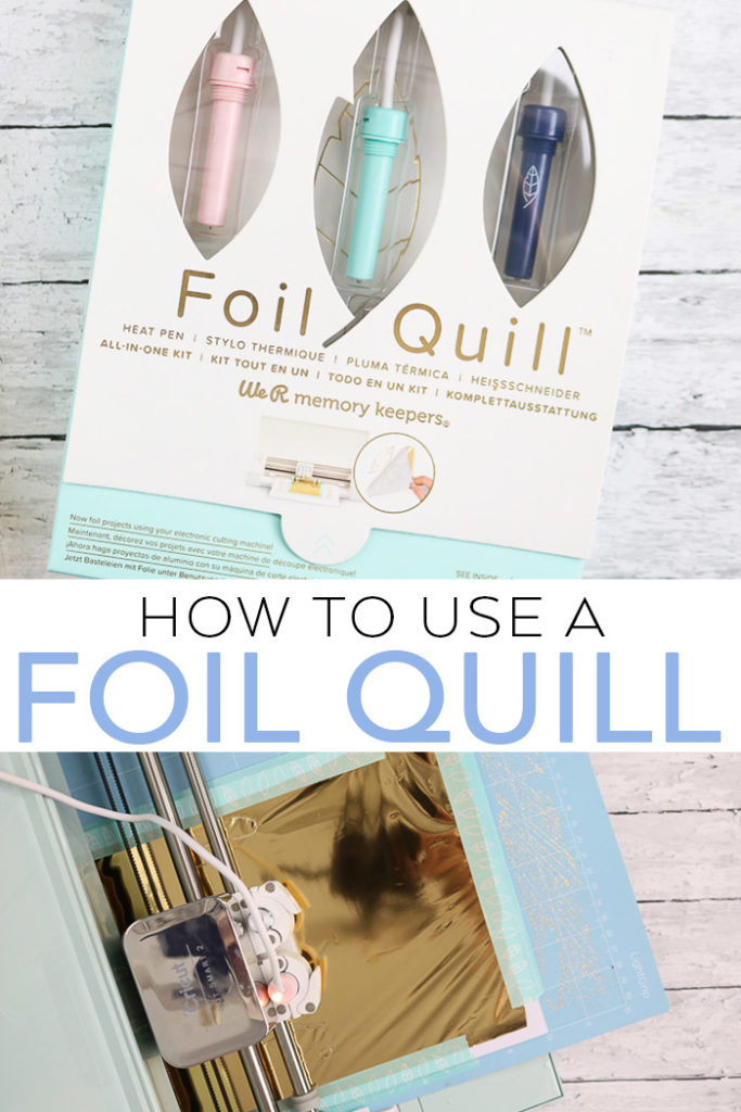 Learn how to use a foil quill in a Cricut machine! The foil pen from We R Memory Keepers is a great tool for crafting! #foil #cricut #cricutmade #foilquill #wrmk