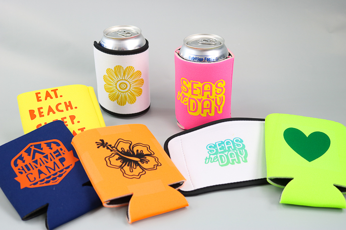 make your own koozie with a cricut machine
