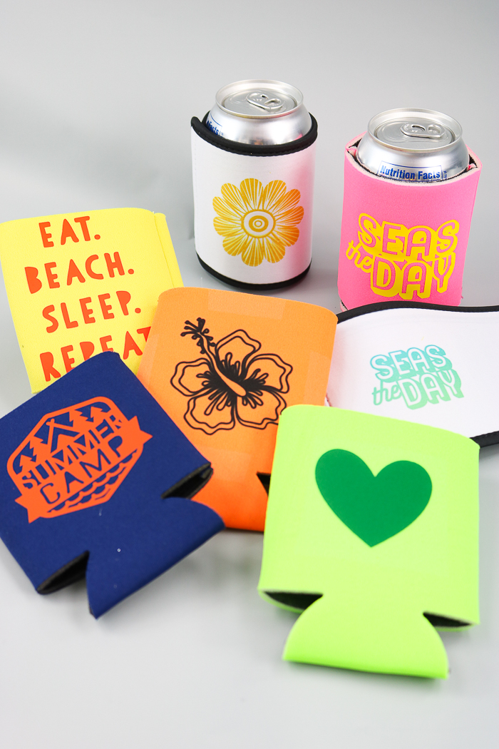 custom koozies made with a Cricut machine