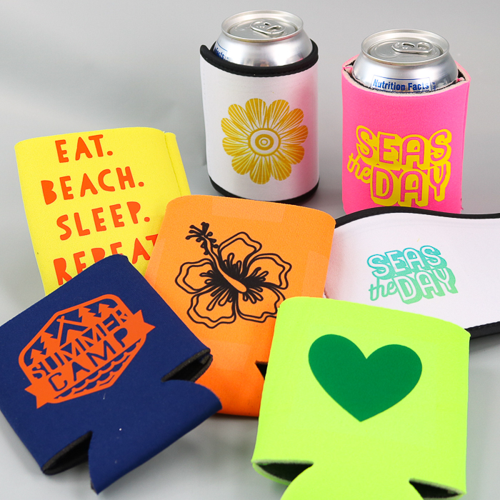 design your own koozie on a cricut machine