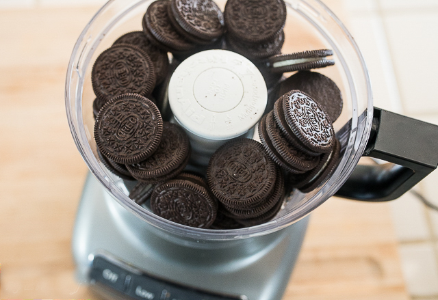 crushing oreos in a food processor