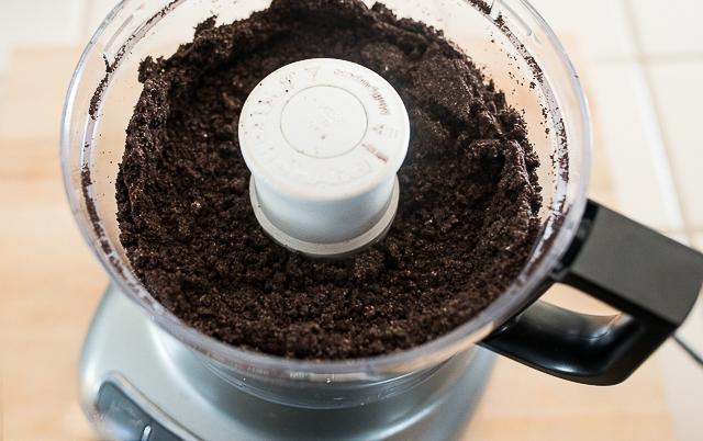 making oreo crumbs in a food processor