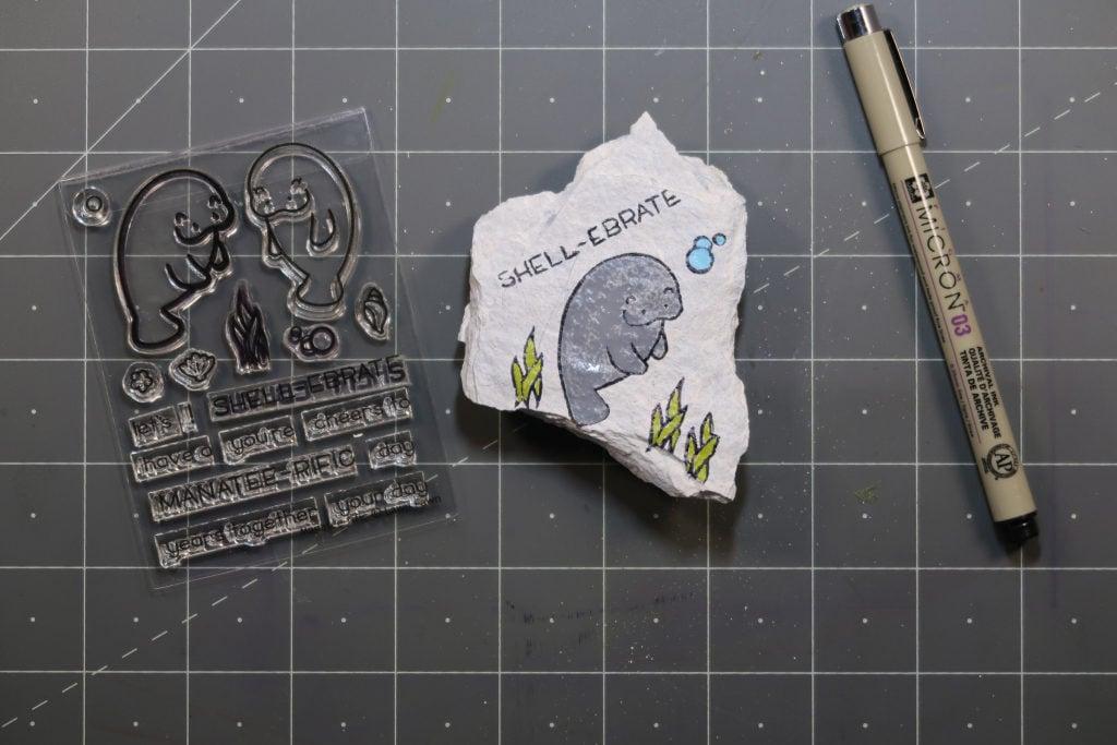 paint rocks stamping