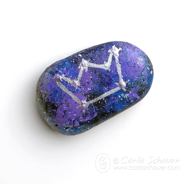 painting rocks galaxy