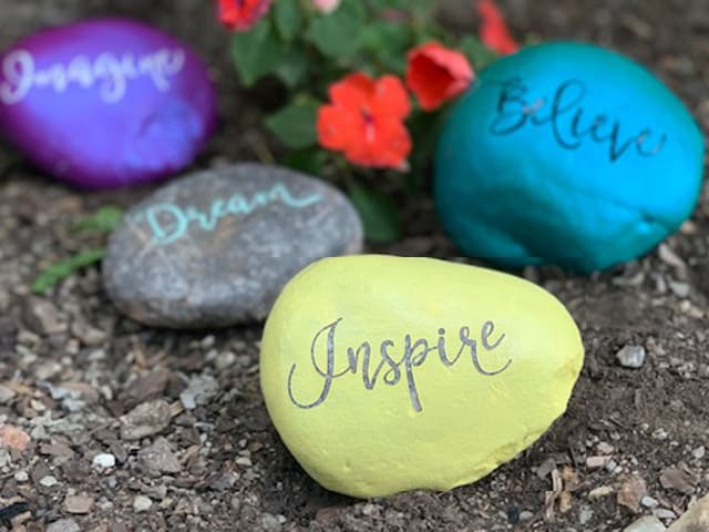 painting rocks inspirational