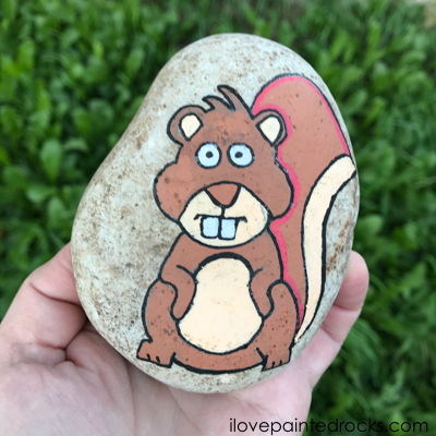 painting rocks squirrel