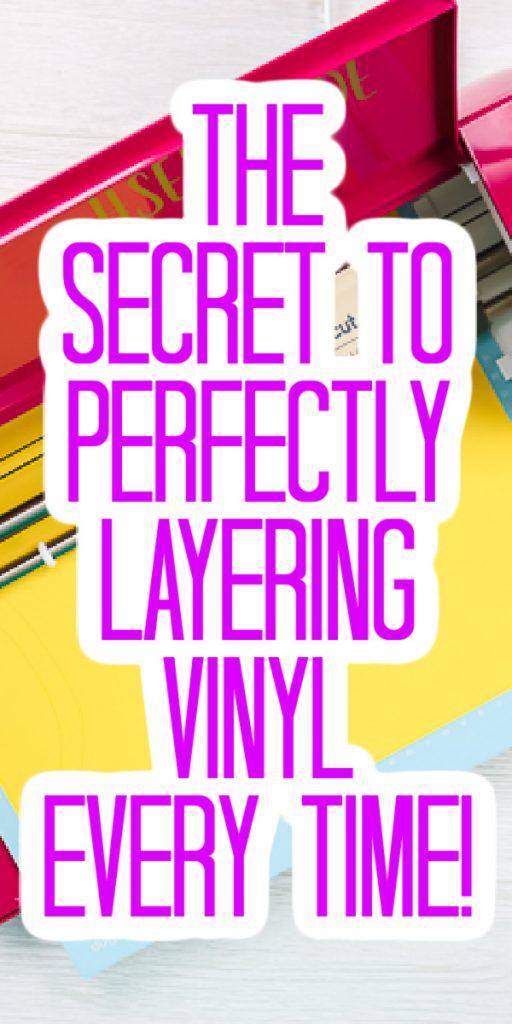 perfectly layering vinyl