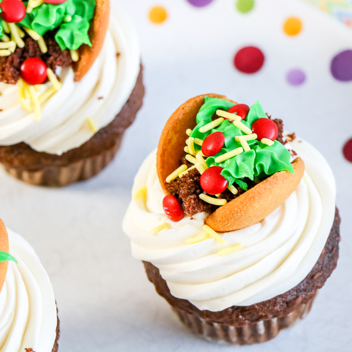cupcakes with taco toppings