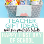 Back to school teacher gifts can make your new teacher feel so special! Be sure to download these free printable gift tags and whip up a great gift for any teacher! #backtoschool #teacher #giftidea #gifts