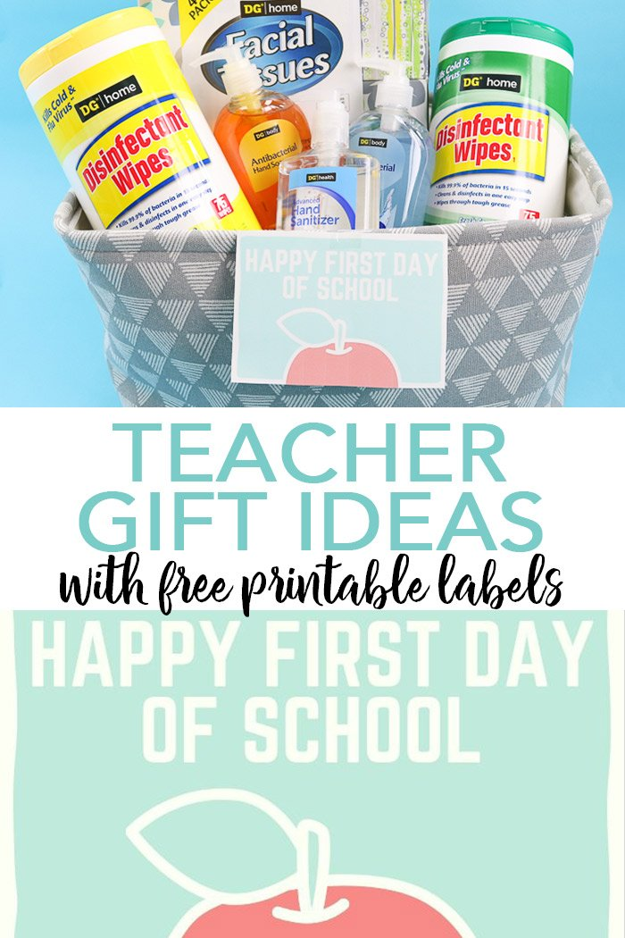 First day of school gifts can make your new teacher feel so special! Be sure to download these free printable gift tags and whip up a great back to school gift for any teacher! #backtoschool #teacher #giftidea #gifts