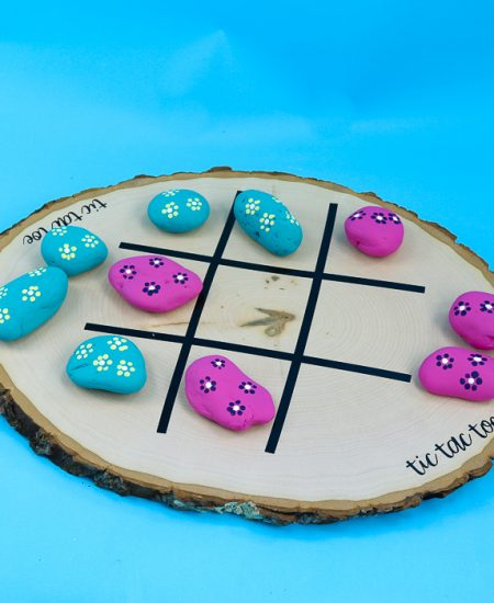 playing outdoor tic tac toe