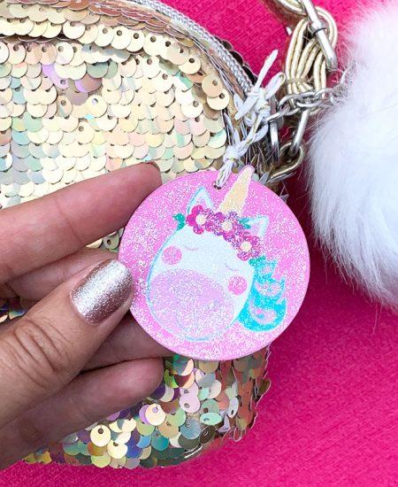 unicorn purse charm