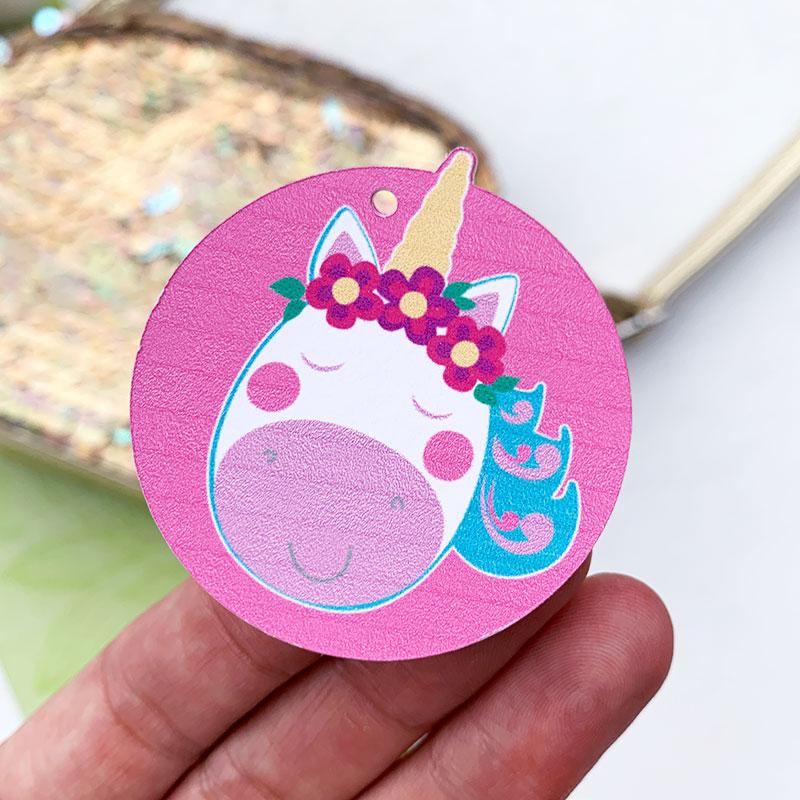 print then cut unicorn tag