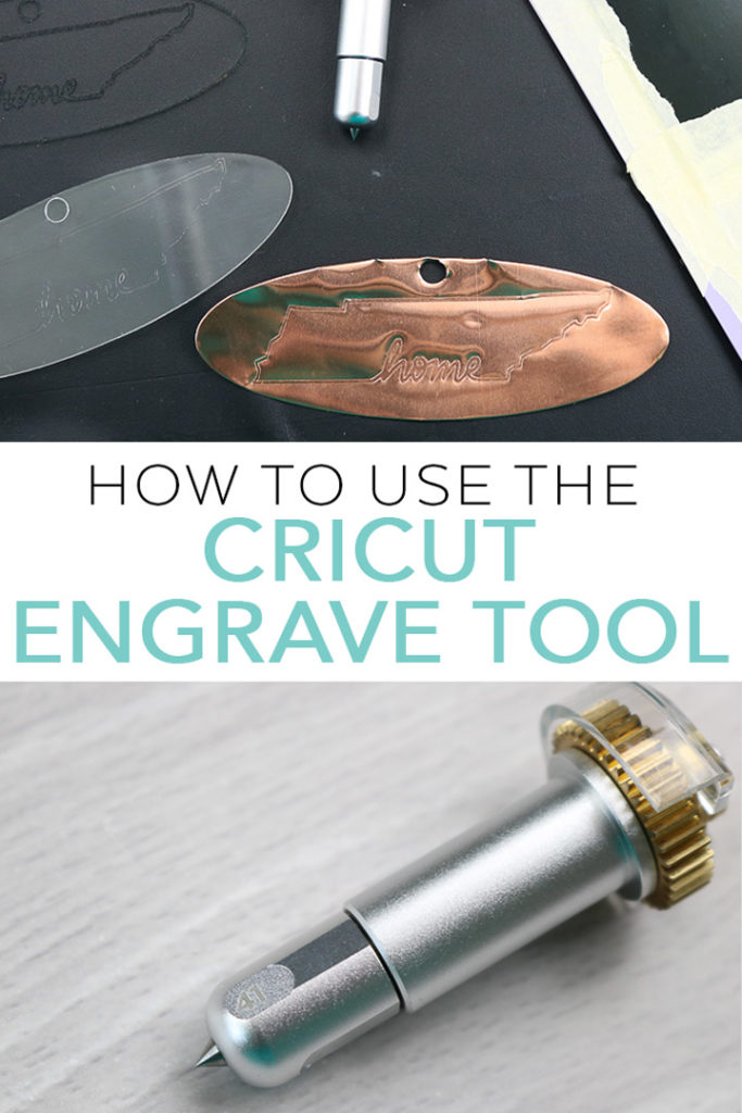 Learn how to use the Cricut engrave tool! Engraving with your Cricut Maker is an awesome addition to your crafts and we are sharing how to do it on metal, acrylic, leather, and more! #cricut #cricutmade #engrave #engraving