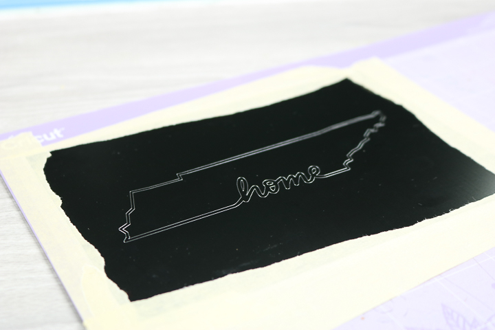 engraving metal with a cricut