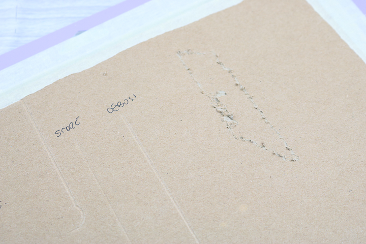 engraving chipboard with cricut engrave tool