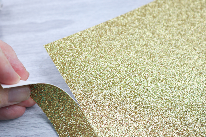 tearing glitter cardstock on perf line