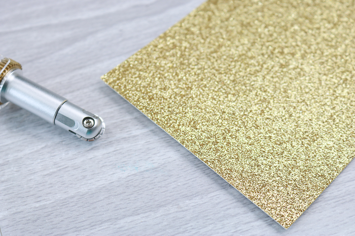 perforation line on glitter cardstock