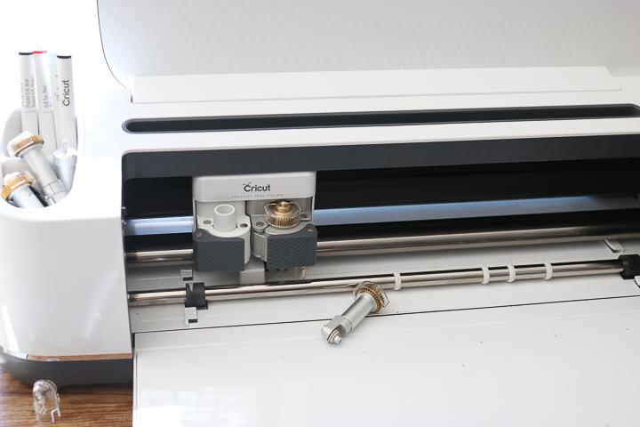 putting the cricut wave blade in the cricut maker