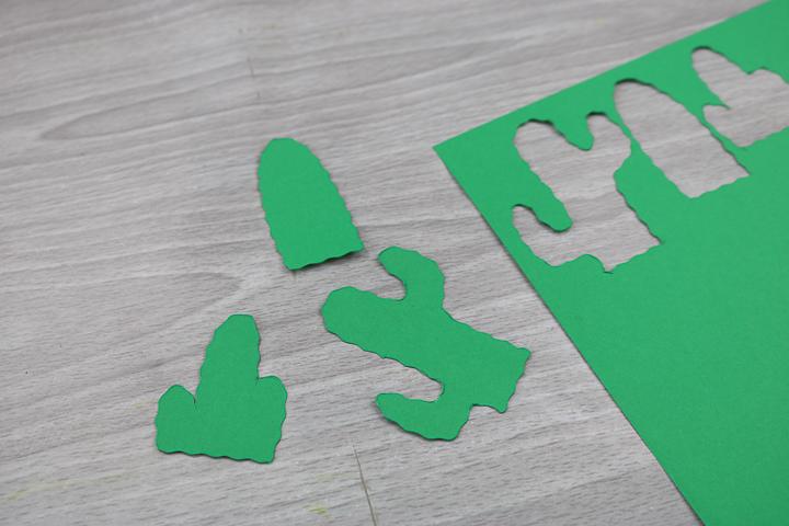 card stock with cricut wavy cut blade