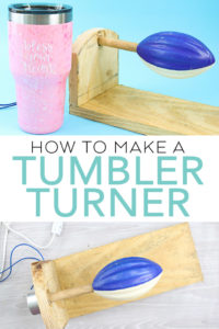 Learn how to make a tumbler turner with a great video as well as step by step instructions. You can't go wrong when you make your own DIY cup turner! #diy #tumbler #glittertumbler #howto #video