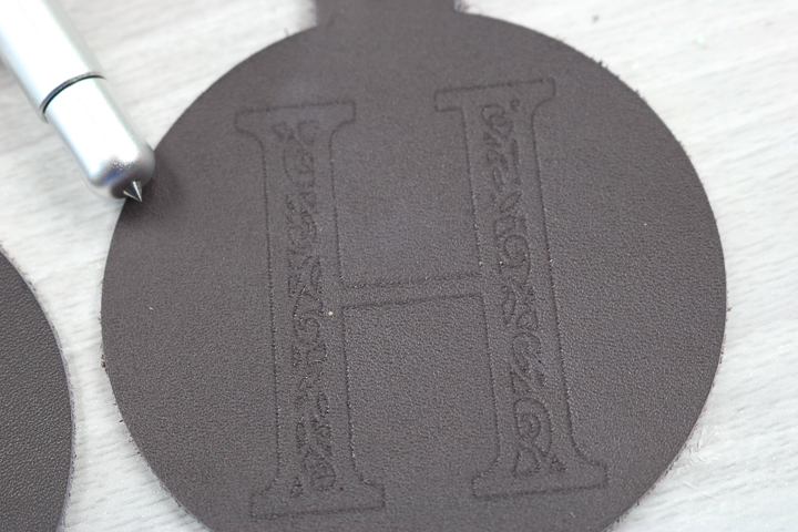 engraved versus debossed leather with the cricut maker