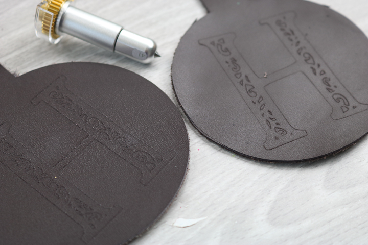 Cricut Maker engraving tool on leather