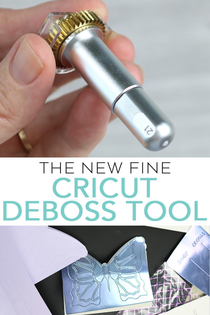How to use the new fine Cricut deboss tool on a variety of projects! We are sharing how it works on cardstock, foil paper, leather, and more! #cricut #cricutmade #deboss #papercrafting