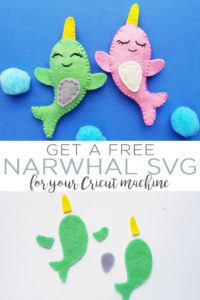 Download a free narwhal SVG file for your Cricut or Silhouette machine! This one is perfect for kids crafts and so much more! #svgfile #freesvg #cricut #cricutmade #cricutcreated #silhouette #narwhal #kidscrafts