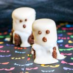 Halloween Brownies Decorated Like Ghosts