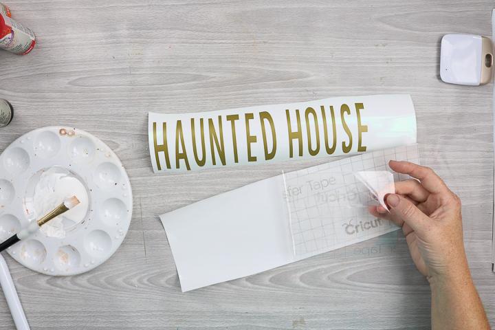 vinyl for halloween wood sign
