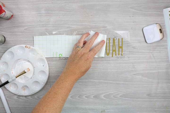 removing backing from transfer tape cut with cricut